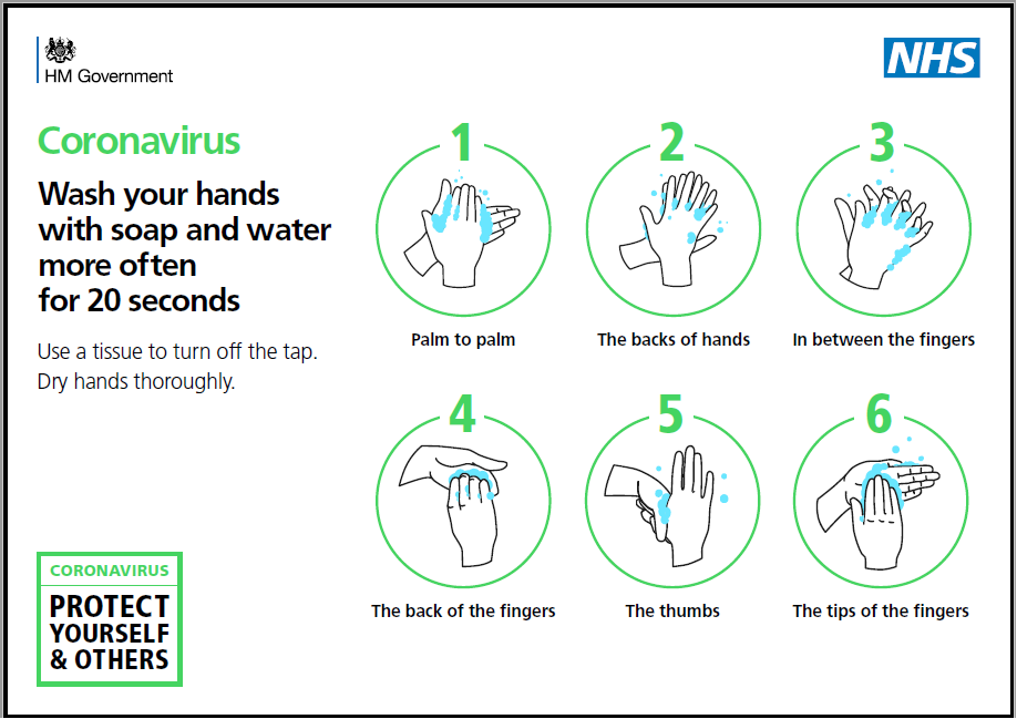 Wash hands (COVID-19) - poster 2